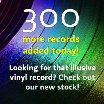 300 new vinyl records